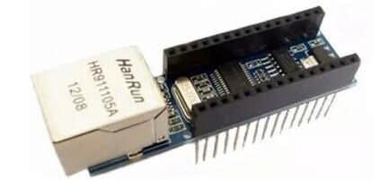 Модуль мини-веб-сервера ENC28J60 Ethernet для Arduino Nano v3.0