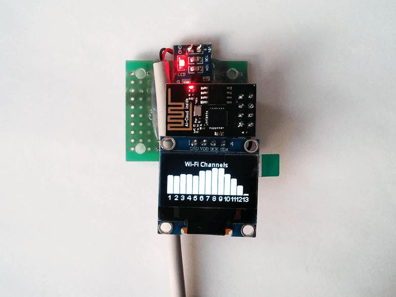 Индикатор загруженности Wi-Fi каналов на ESP8266 и OLED SSD1306