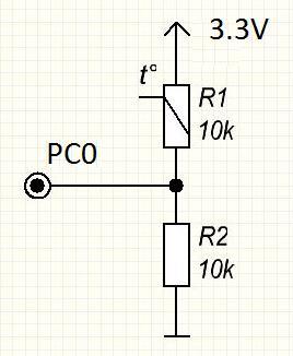 Термістор (терморезистор). ADC в stm32