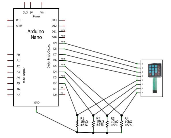 схема подключения Arduino