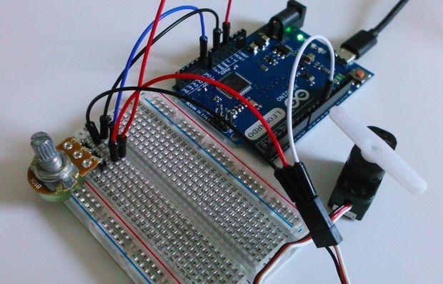 Подключения сервопривода к Arduino и управление им с помощью потенциометра.