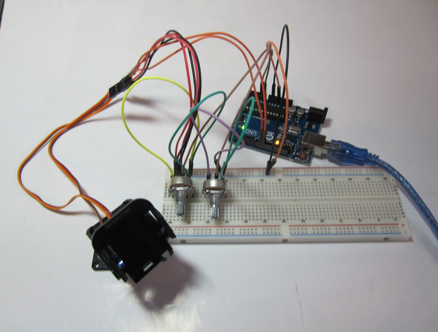 Arduino и 2х осевой подвес с серво
