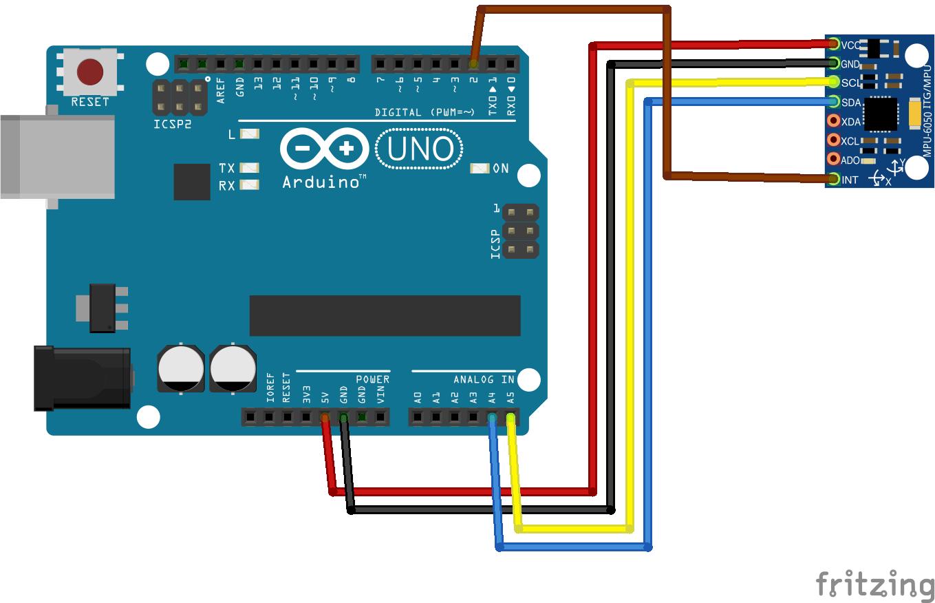 Arduino, MPU-6050 и 2 сервопривода