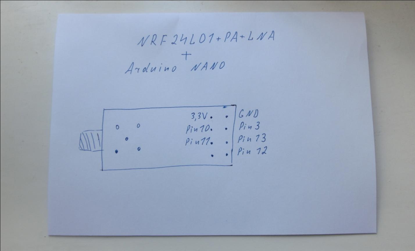 Вот мой вариант подключения и программирования радиомодуля NRF24L01+PA+LNA