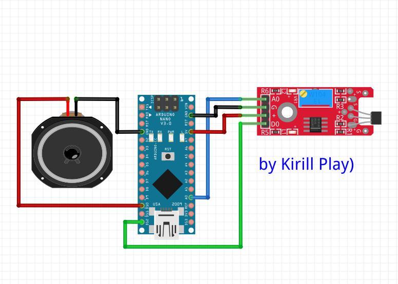 Датчик магнитного поля на Arduino Nano