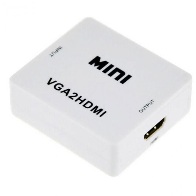 Конвертер VGA to HDMI + audio BOX