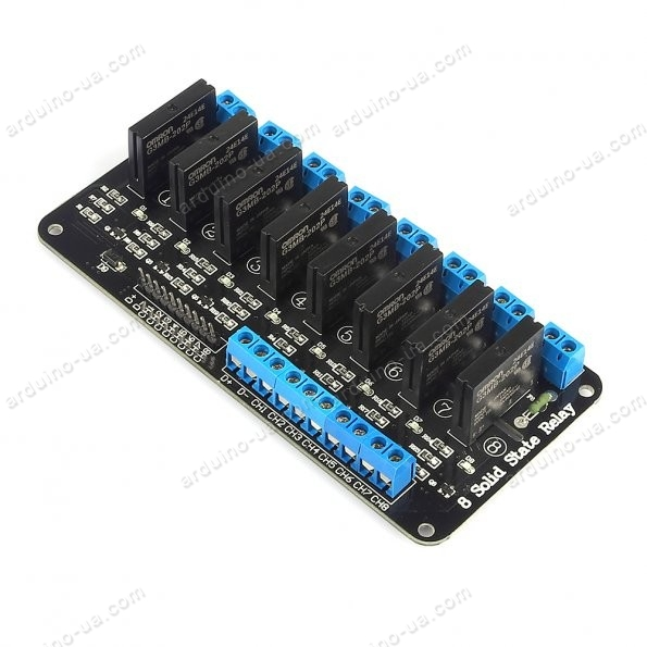 How to connect 8 Channel 5V Solid State Relay Module Board