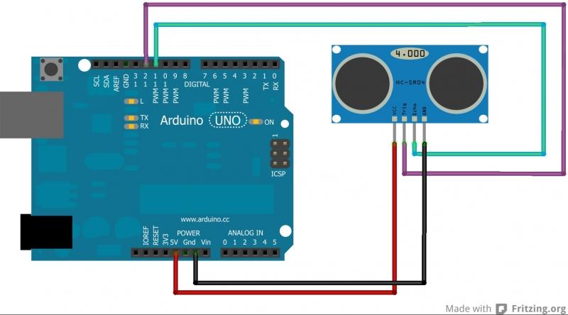 arduino работа с ультразвуковым датчиком